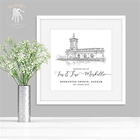 personalised wedding gift wedding venue keepsake