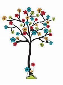 Imágenes infantiles árbol de flores