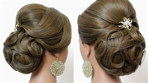 Indian Wedding Hairstyles Tutorial. Bridal Updo For Long