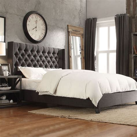 grey and black rug bedroom stunning tufted king bed for furniture ideas with