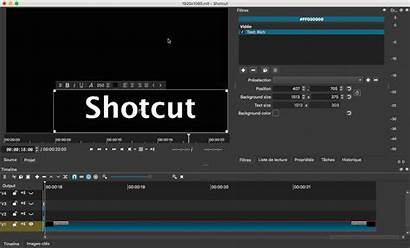 Shotcut Filter Too Export Rich Showing