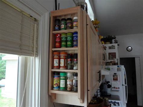 spice cabinet wall mount wall mounted solid wood spice rack by midwestclassiccrafts