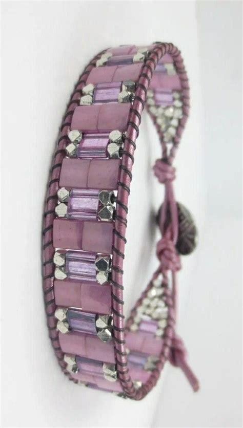 pin  diane pitre  leather beading beaded wrap