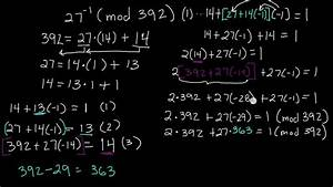 Modulo Inverse Berechnen : how to find the inverse of a number mod n inverses of modular arithmetic example youtube ~ Themetempest.com Abrechnung