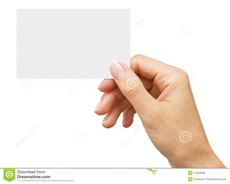 Empty Business Card In A Woman's Hand Stock Photo Lawyer Business Cards Templates Free Download Card Template Print Word 2008 Mac Evernote Scanner Review To Outlook Uk With Logo Pdf 2016