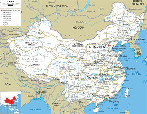 Road Map Of China