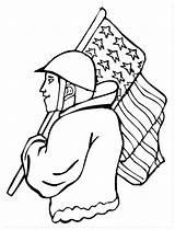Veterans Coloring Pages Abominable Snowman Veteran Drawing Printable Army Activities Getcolorings Print Getdrawings Realistic sketch template