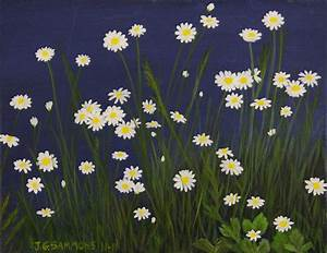 Daisy Field Painting by Janet Greer Sammons
