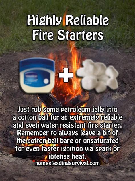 fire survival starter camping starters
