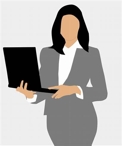 Manager Clipart Woman Person Computer Silhouette Openclipart