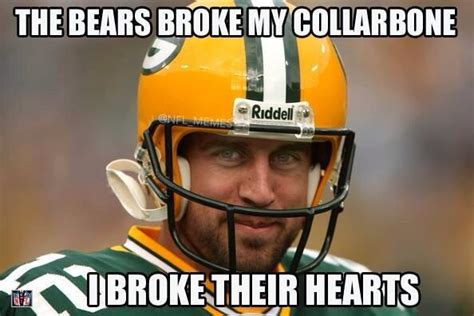 Bears Packers Meme - nfl memes on twitter quot packers win the nfc north in aaron rodgers return http t co zye55lgman quot