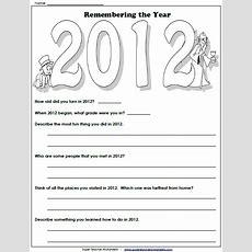 New Year Worksheet  Remember 2012  Holidays  Super Teacher Worksheets Pinterest