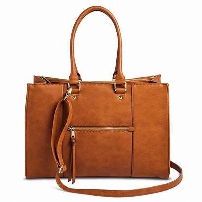 Tote Merona Leather Handbag Target Purses Pocket