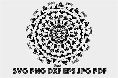 With halloween just around the corner, we'd like you to get creative with some spooky svg. Halloween Mandala SVG, Halloween Zentangle SVG (870737 ...