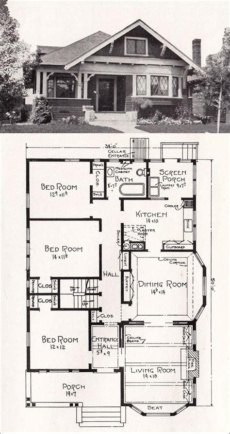 transitional bungalow floor plan   cottage house plan    stillwell vintage los