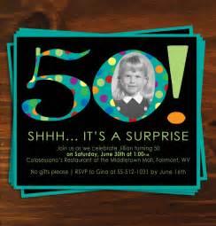 Poka Dot Surprise Birthday Party Invitaion