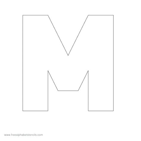 block letter m printable block letter m alphabet coloring page for 29509