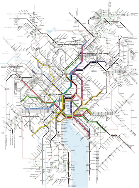 large detailed metro map  zurich city zurich city large