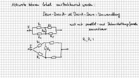 stern dreieck umwandlung grundlagen der elektrotechnik