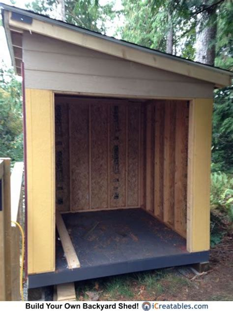 lean to shed plans 8x8 1000 ideas about lean to shed on lean to