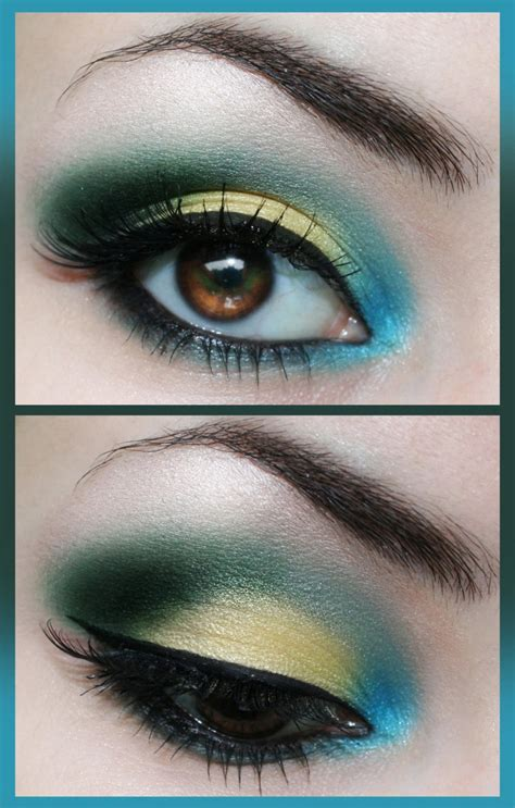 gorgeous blue  gold eye makeup   tutorials pretty designs