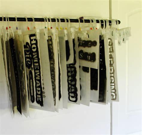 industrial pipe stencil storage hanger stencils