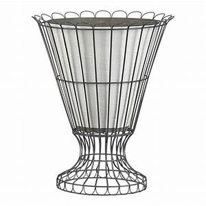 Love This Wire Urn With A Crackle Planter Inside  It U0026 39 S