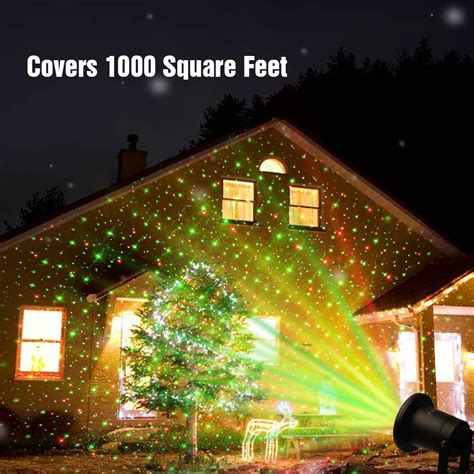christmas light show projector outdoor lawn light sky star laser spotlight light show