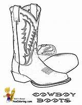 Cowboy Coloring Boots Boot Hat Western Clip Drawing Draw Hats Boys Saddle West Hand Vector Drawings Yescoloring sketch template