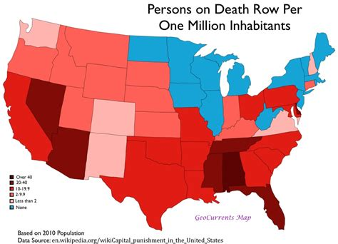 The Geography Of The Death Penalty In The United States