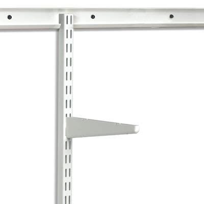 Wall Bracket Shelf System by White Elfa Easy Hang Top Tracks Waters Avenue Wire