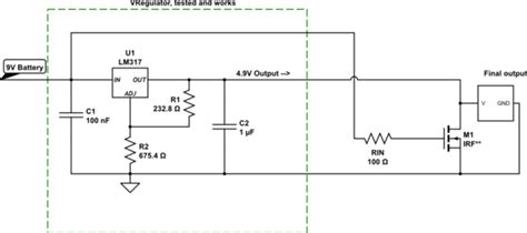 Power Supply Circuit Powered Battery Output