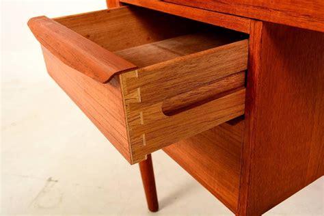 modern desk with drawers danish modern teak desk sliding drawers at 1stdibs