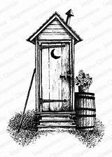 Pencil Drawings Sketch Outhouse Drawing Burning Cabin Wood Coloring Pages Victorian Barn Stencils Log Sketches Patterns Woods Line Stamps Barns sketch template