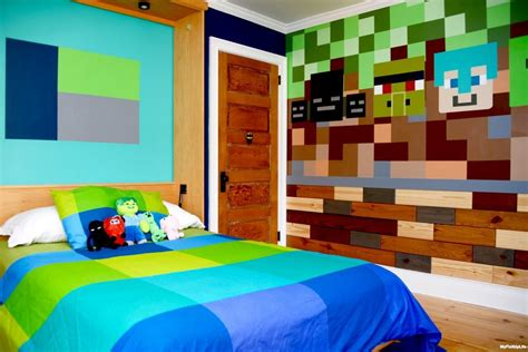 need a few minecraft ideas for your kid s bedroom here s