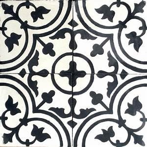 carrelage mosaique noir et blanc beautiful with carrelage With carreaux de ciment noir et blanc