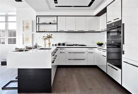 contemporary kitchen set contoh rumah minimalis bentuk l gambar om 2511