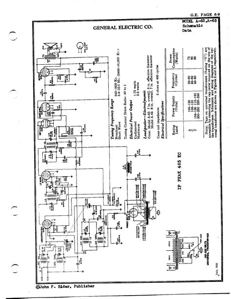 General Electric Wiring Schematic by General Electric Co A63 Antique Electronic Supply