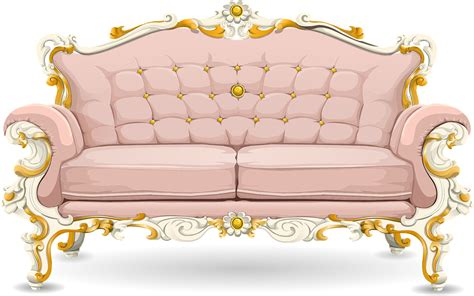 Sofa Clipart by Free Vector Graphic Sofa Loveseat Pink Ornate