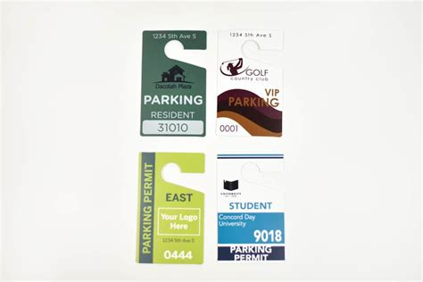 Custom Hanging Parking Permits  Personalized Hanging
