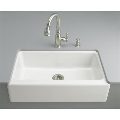 kohler kitchen sinks shop kohler dickinson 22 12 in x 33 in white single basin