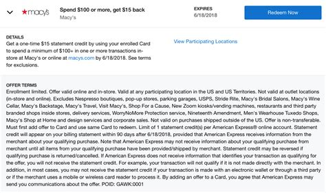 We did not find results for: Expired Amex Offers: Macy's 1,500 MR or $15 Back with $100 Purchase - Doctor Of Credit