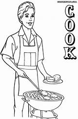 Cook Coloring Chef Colorings sketch template