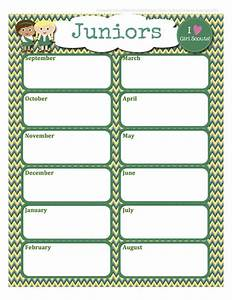 girl scouts free juniors calendar editable word format With girl scout calendar template