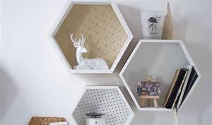 Etagere Murale Hexagonale : diy fabriquer une tag re murale d coration murale hexagonale ~ Teatrodelosmanantiales.com Idées de Décoration