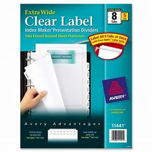 avery index maker extra wide tab dividers ld products With avery binder dividers 5 tab