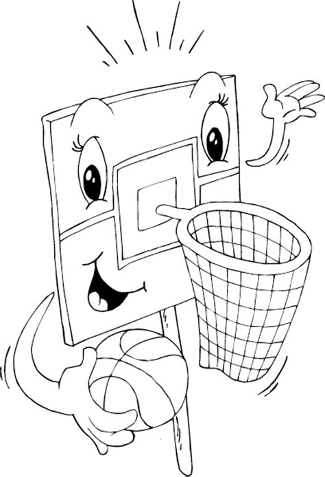 basketball net coloring page coloringcom