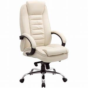 Lucca, Cream, Executive, Leather, Office, Chairs