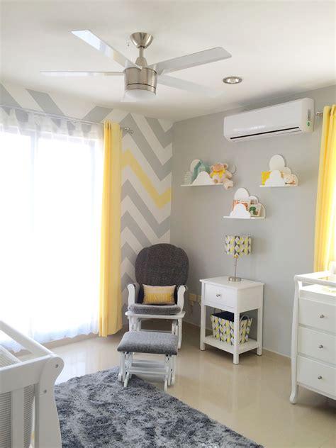sunshine baby nursery gray  yellow chevron