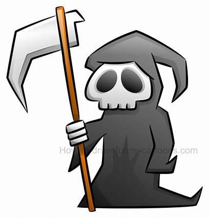 Reaper Grim Draw Clipart Cartoon Simple Cartoons